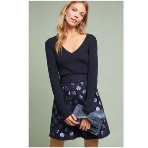 Anthropologie Sequin Mini Skirt 14 NWT Miniskirt